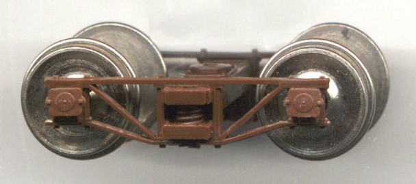 SR&RL ON2 ARCHBAR TRUCKS WITH NO WHEELSETS-BROWN DELRIN® (WILL FIT #37851-4 NSWL WHEELSETS)