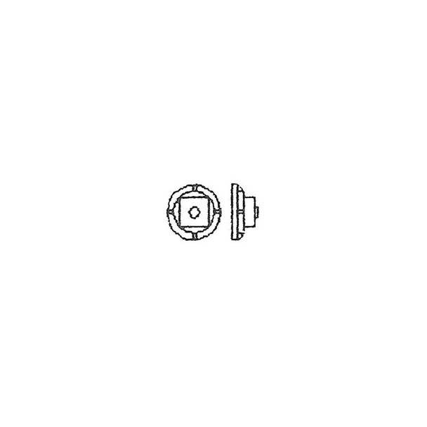 1 1/4″ NUT, 3″ MALLEABLE WASHER