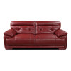 VOLASTRA Genuine Italian Cowhide Real Leather 3 Seater