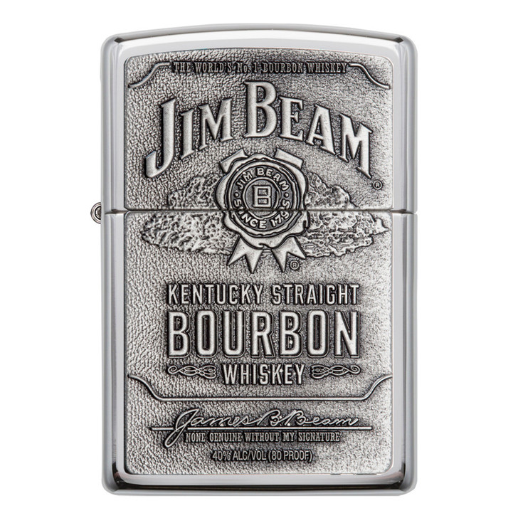 Jim Beam™ Full Label Pewter Chip - High Polish Chrome