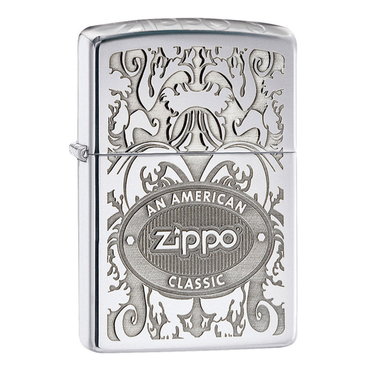 Crown Stamp Zippo™ Classic - High Polish Chrome