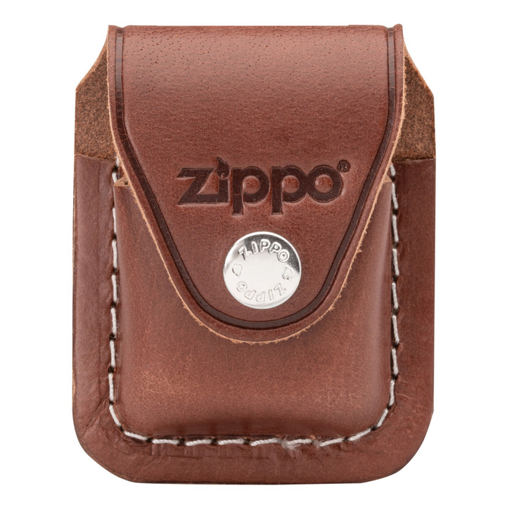 Brown Leather Pouch with Clip