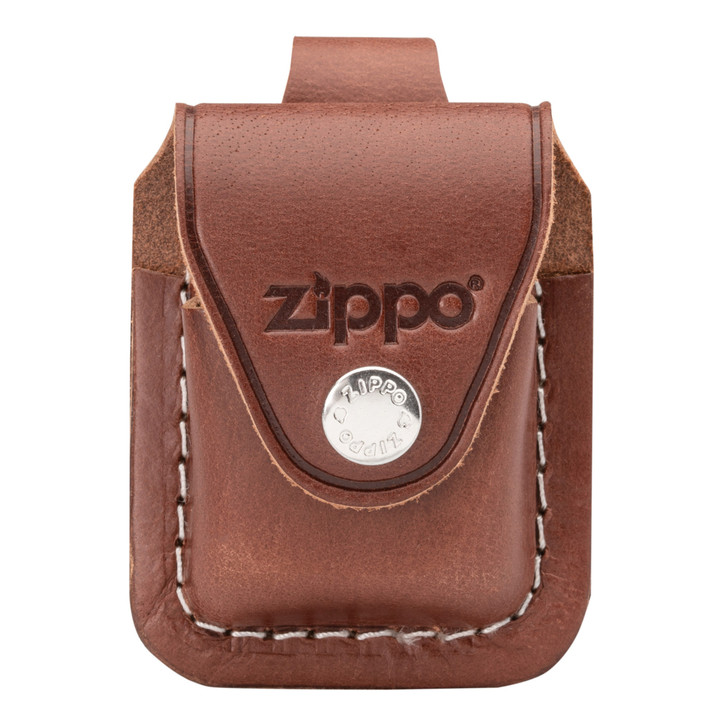 Brown Leather Pouch with Loop