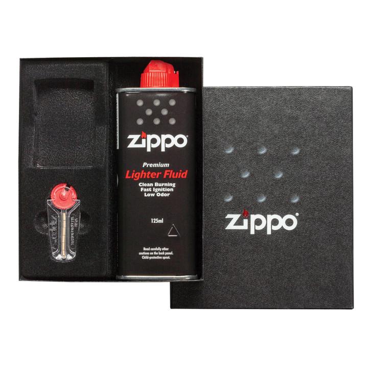 Gift Kit with Fluid, Flints and Empty Lighter Slot - Regular