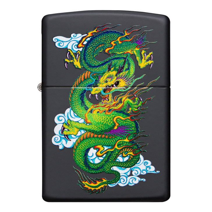 Black Matte Green Dragon