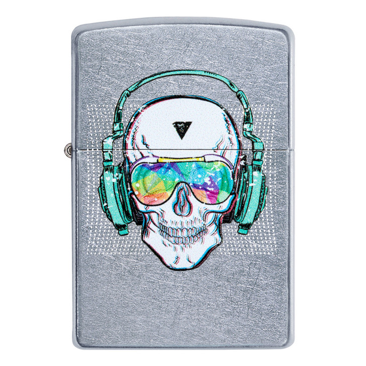 Street Chrome Skull Headphones