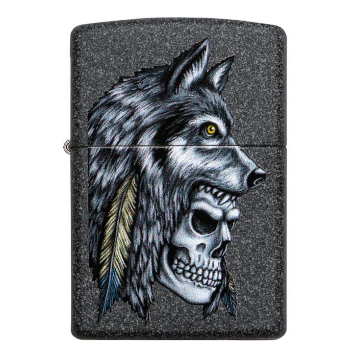 Iron Stone Wolf Skull