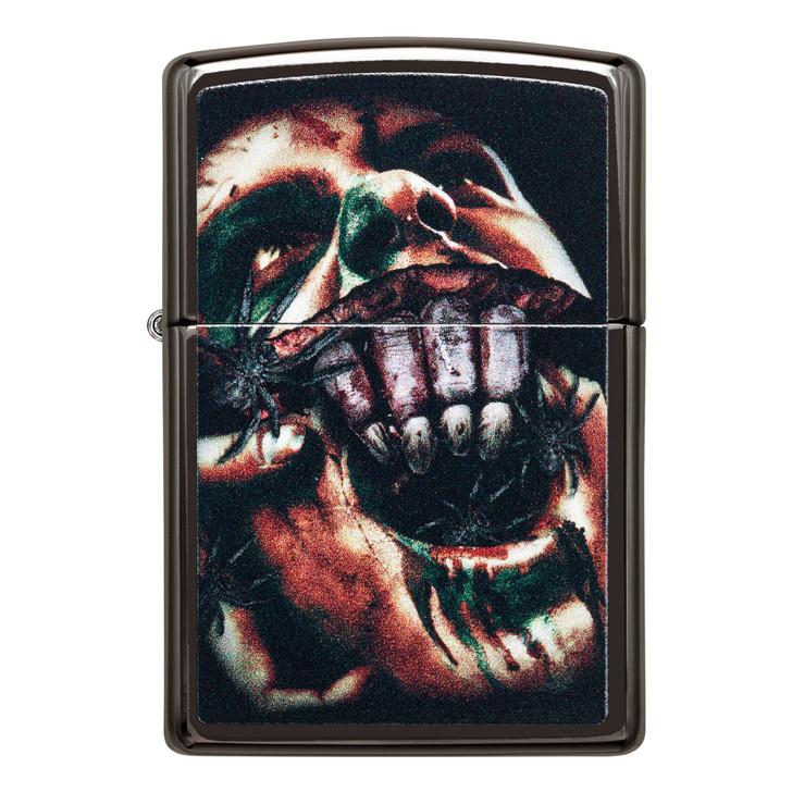 Zippo High Polished Black Scream