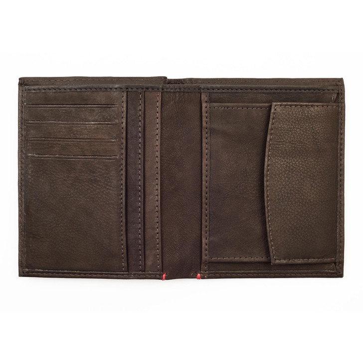 Vertical Wallet Mocha  4 Cards