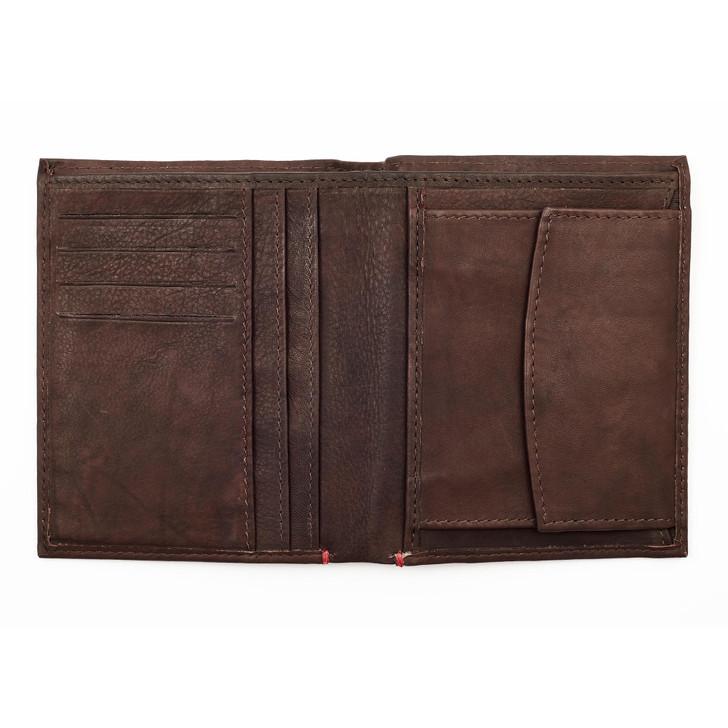 Vertical Wallet Brown 4 Cards