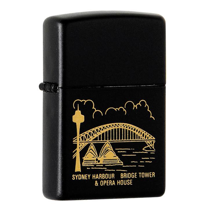 Zippo Sydney Harbour - Black Matte
