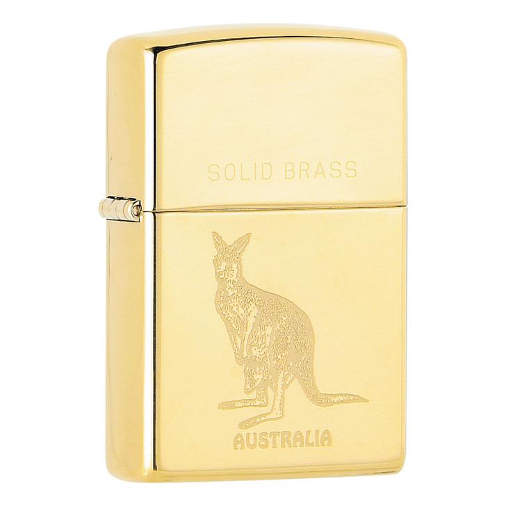 Australian Kangaroo - High Polish Brass
