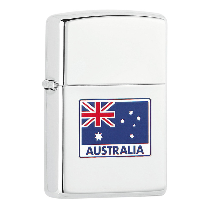 Zippo Australian Flag - High Polish Chrome