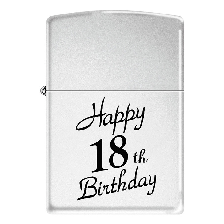 Zippo Happy 18th - High Polish Chrome