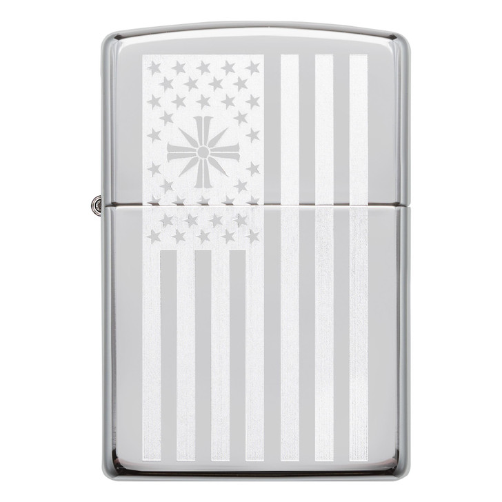 Zippo High Polish Chrome, Lustre Etch