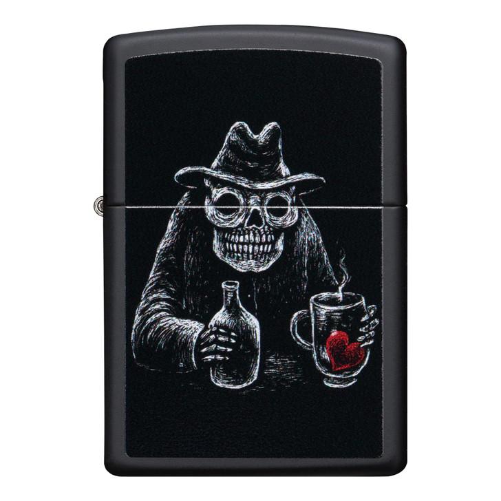 Zippo Skeleton Bartender Black Matte