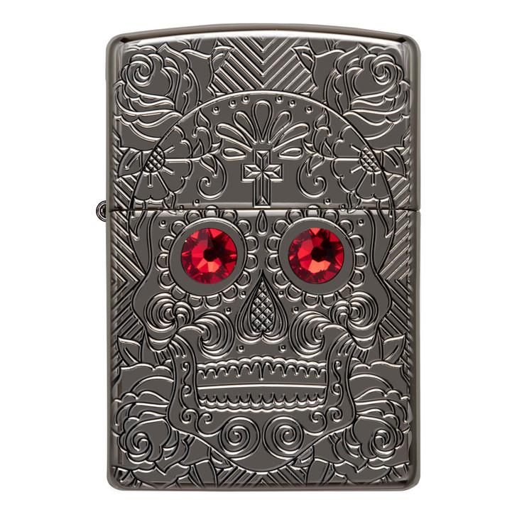 Red-Eye Skull Armor® High Polish Black Ice®