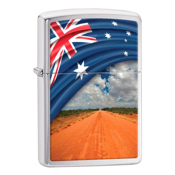 Flag & Landscape Long Road
