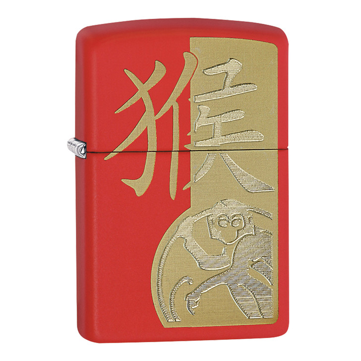 ZIPPO YEAR OF THE MONKEY - RED MATTE
