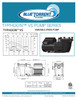 Blue Torrent 1.5 HP Energy Star Listed Typhoon Variable Speed In Ground Swimming Pool Pump