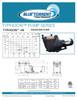 Blue Torrent 1 HP IMP Typhoon 48 Frame In Ground Swimming Pool Pump