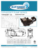 Blue Torrent 1 HP IMP Typhoon 56 Frame In Ground Pump  Swimming Pool Pump With Capacitor Start