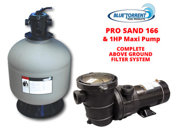 "Blue Torrent Guardian 16"" Sand Filter With 1 HP Maxi Pump"