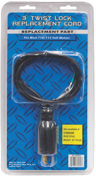 3 Ft Twist Lock 110v Power Cord