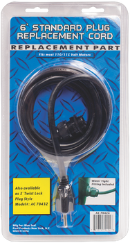 6 Ft Standard 110v Power Cord