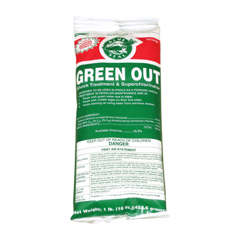 Green Out Premium Pool Shock 1 lb Bags Fast Acting Formula