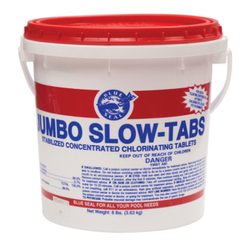 "24lb Jumbo 3"" Slow Tab Swimming Pool Chlorine Trichloro"