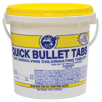 8lbs Quick Bullet Swimming Pool Chlorine Trichloro