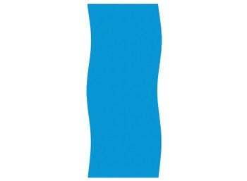18x33 Ft Oval 20 Gauge Solid Blue Liner