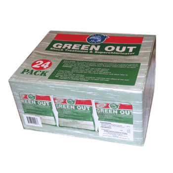 24 Pk Green Out Premium Pool Shock 24 - 1 Lb Bags