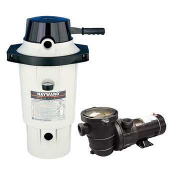Hayward EC40 DE Filter with Blue Torrent 1 Pump