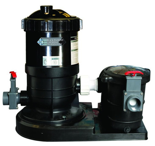 Black Diamond 30 Cartridge Filter With Blue Torrent 1HP Pump