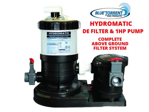 HydroMax 40 Auto-Regen DE Filter System With 1HP Maxi Pump