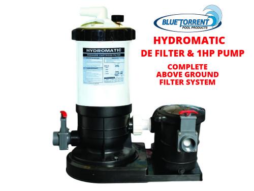HydroMax 50 Auto-Regen DE Filter System WITH 3/4 HP Pool Pump