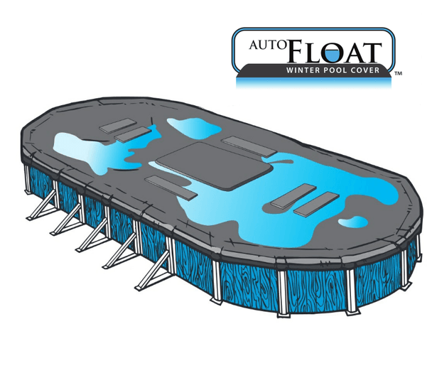 Auto-Float Carbon Black 3 in 1 Above Ground Winter Pool Cover. 20 Year Warranty, Starting at $69*