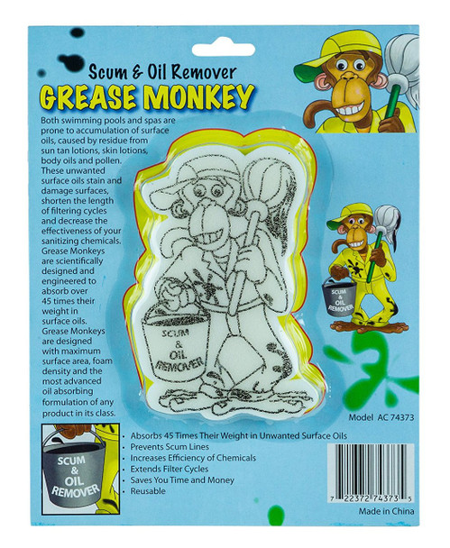 Grease Monkey Oil Absorber for Swimming Pools