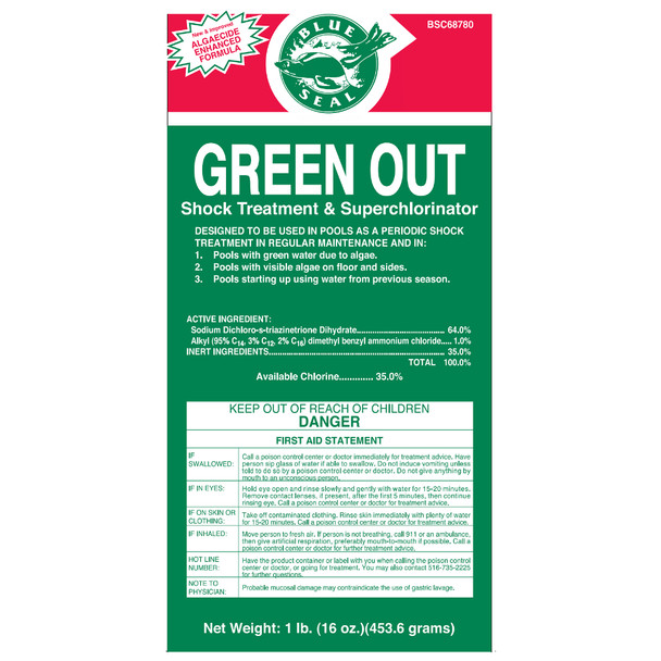 Green Out Shock 1 lb Bags Sodium Dichloro S Triazinetrione