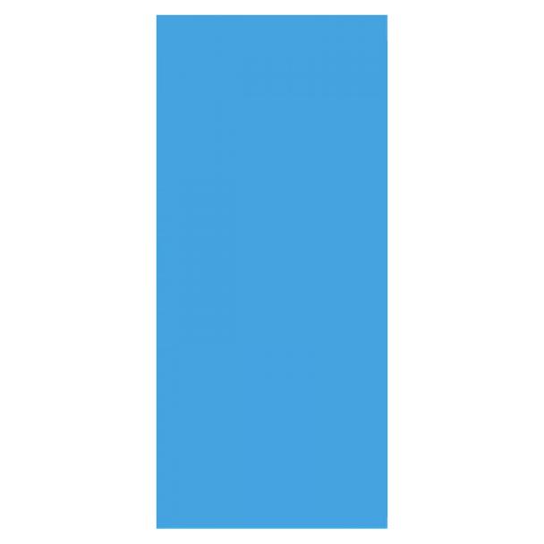 12x24 Ft Oval 20 Gauge Solid Blue Liner
