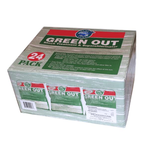 24 Pk Green Out Premium Pool Shock 24 - 1 Lb Bags
