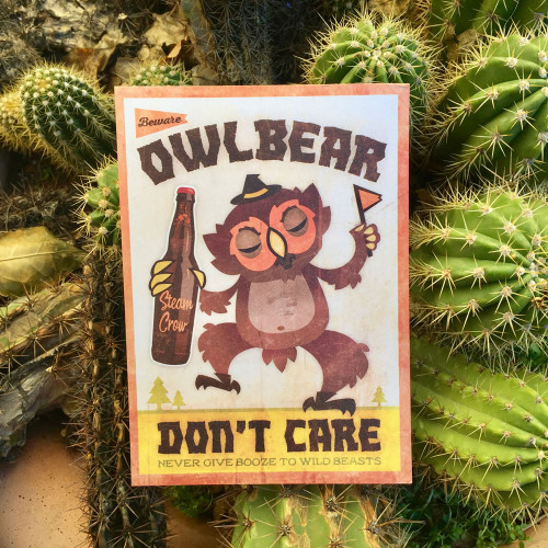 Owlbear Don't Care Miniprint