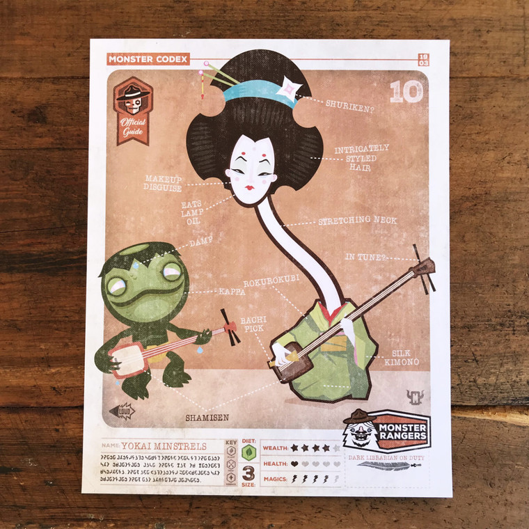 Monster Codex Yokai Geisha File