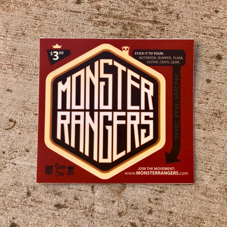 Monster Rangers Hex Sticker