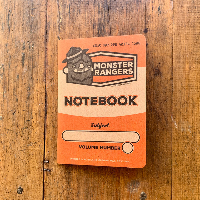 Monster Rangers Notebook