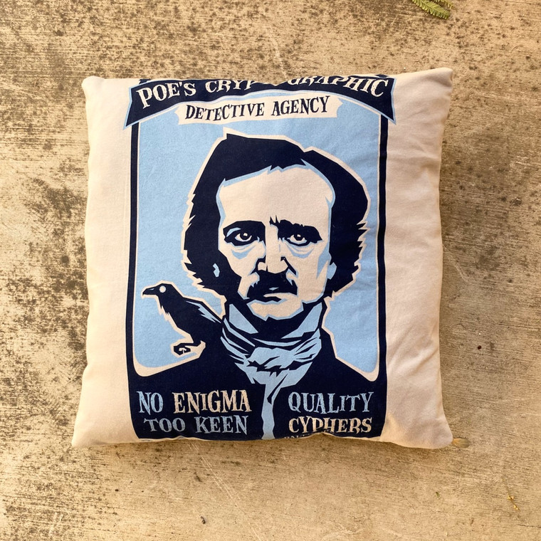 Edgar Allen Poe T-shirt Pillow