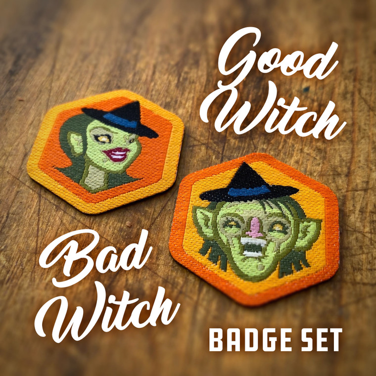 Good Witch Bad Witch Badge Set