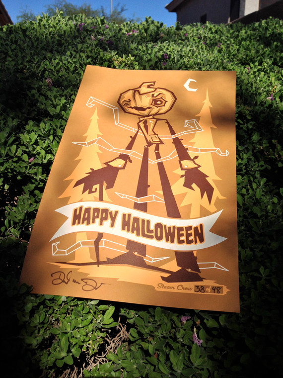 Happy Halloween Screenprint